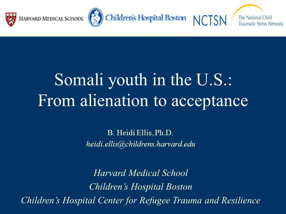 Somali youth in the U.S.: From alienation to acceptance B.