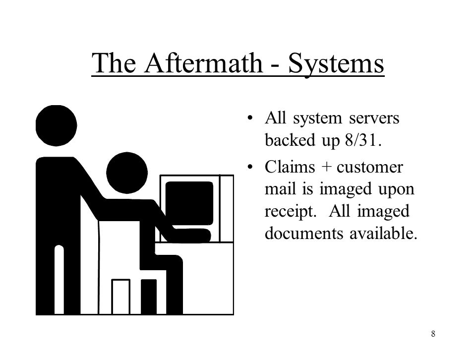 9 The Aftermath - Legal Department Paper based CLMS System Imaging Offsite storage Word Processing - issues with confidentiality