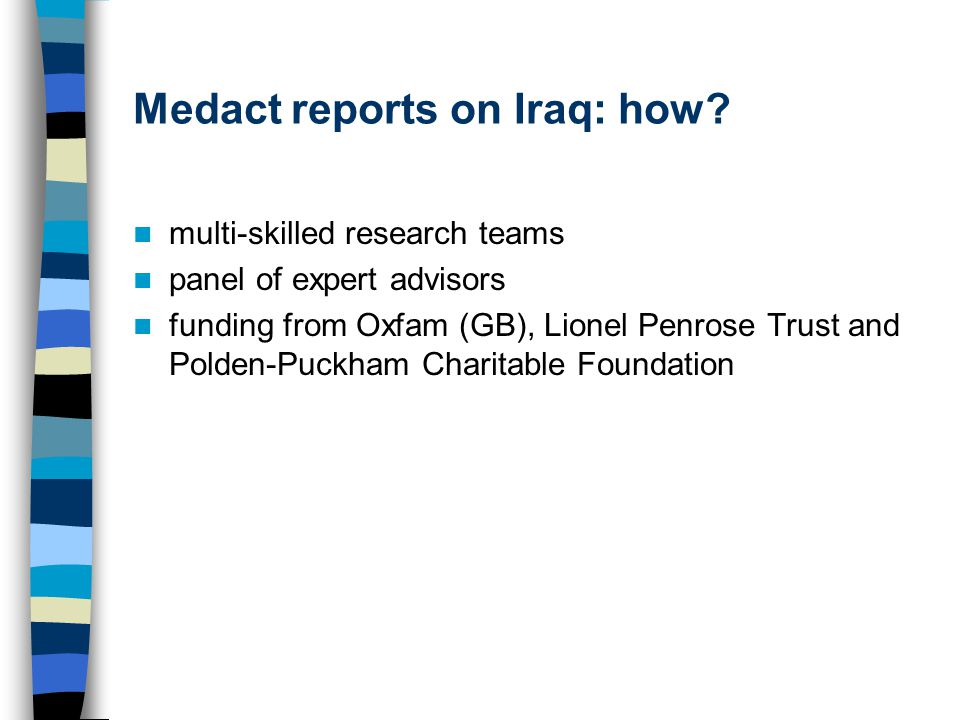 Medact reports on Iraq: how.