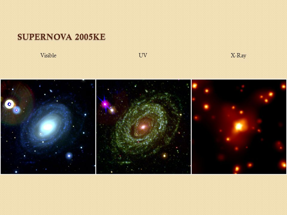 SUPERNOVA 2005KE Visible UV X-Ray