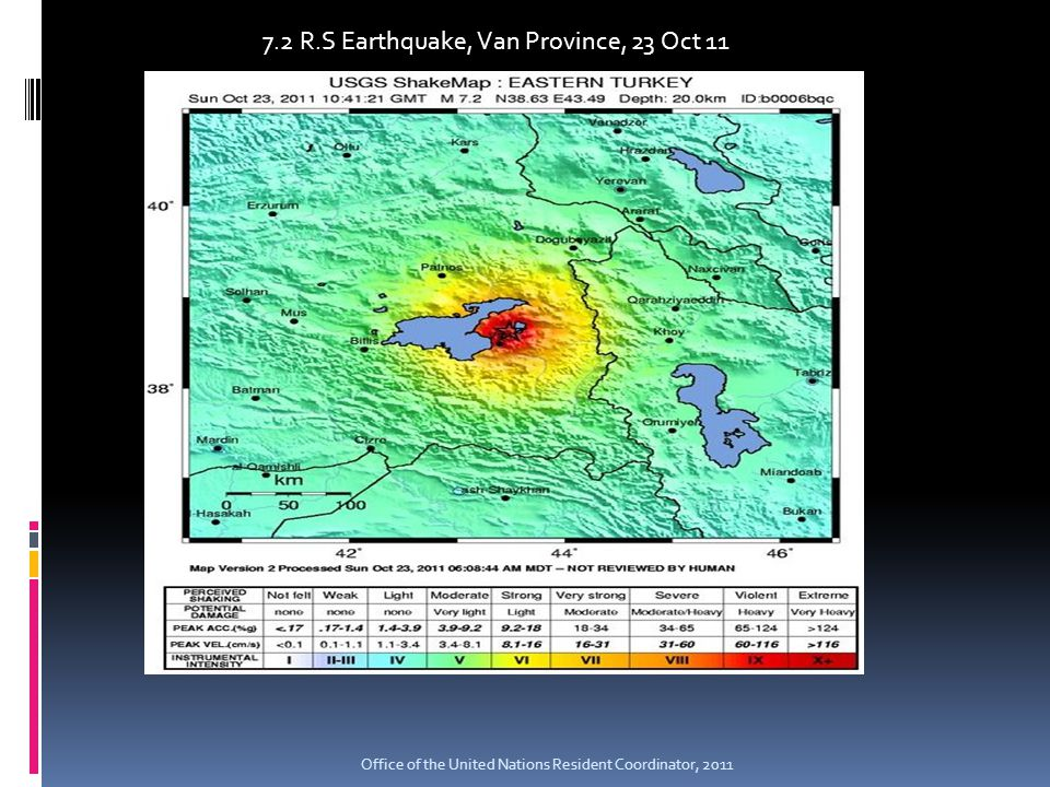 7.2 R.S Earthquake, Van Province, 23 Oct 11 Office of the United Nations Resident Coordinator, 2011