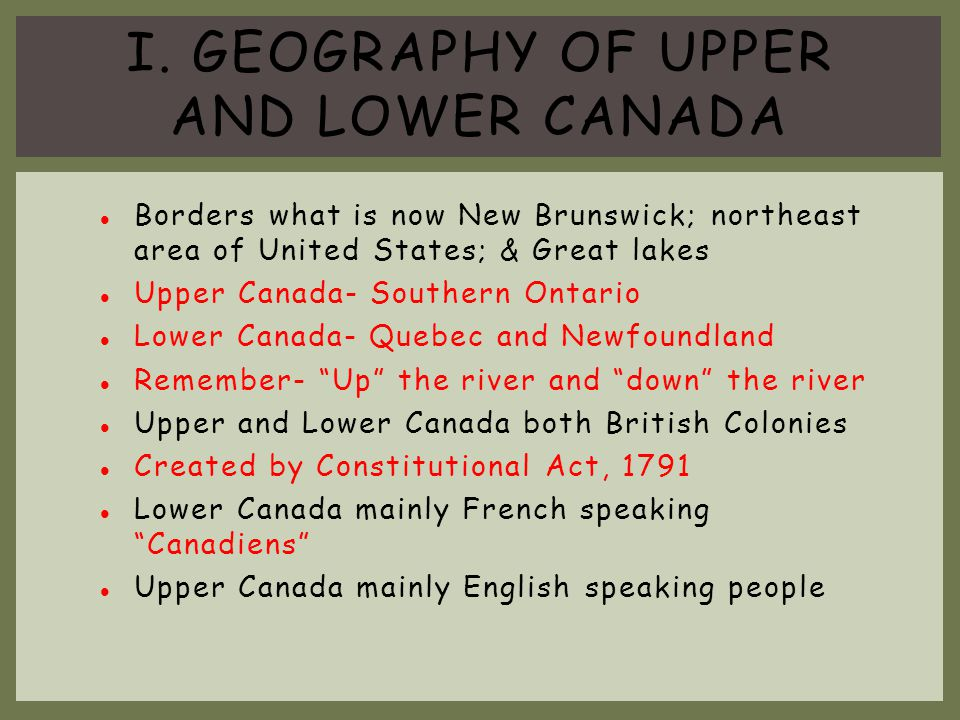 PEOPLE OF UPPER CANADA.