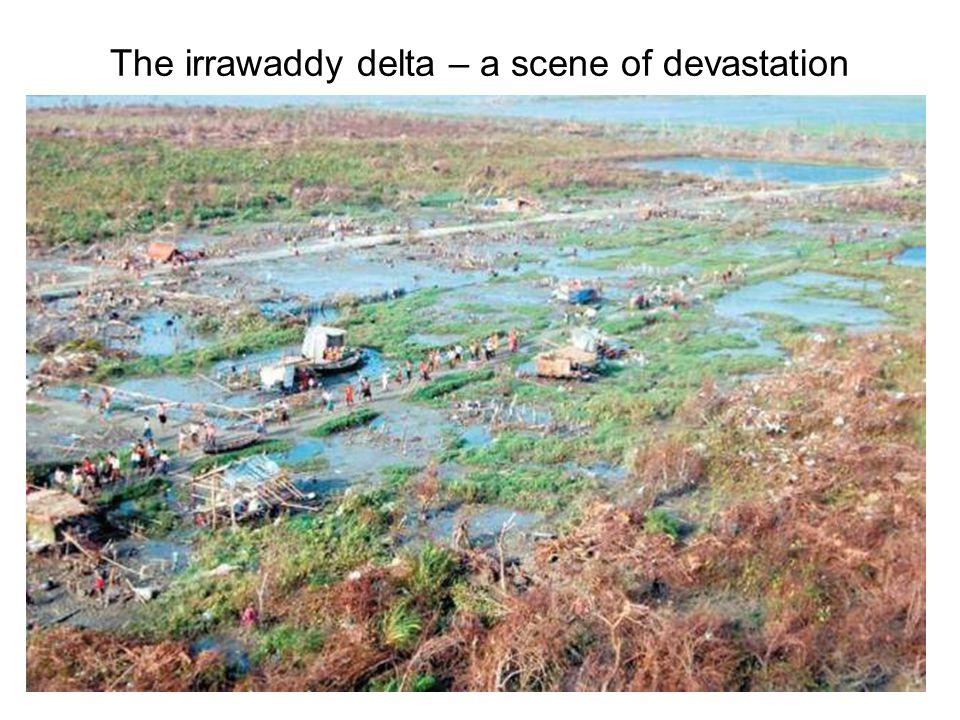 The irrawaddy delta – a scene of devastation