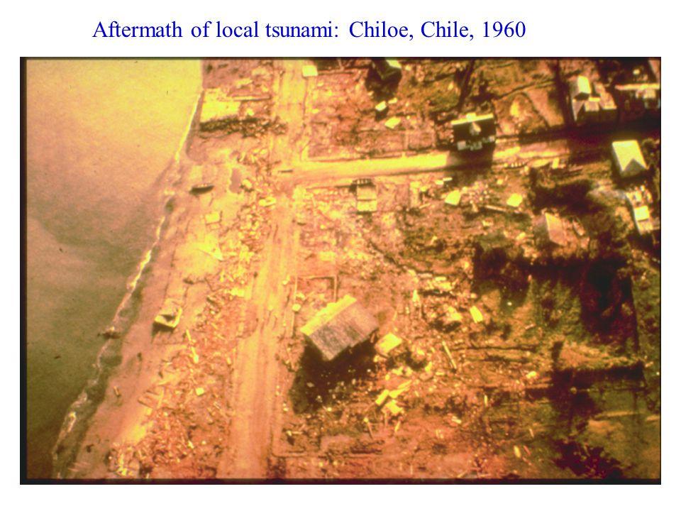 Aftermath of local tsunami: Chiloe, Chile, 1960