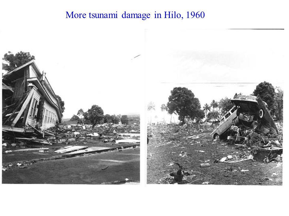 More tsunami damage in Hilo, 1960