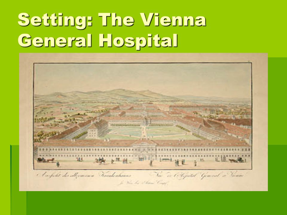 Setting: The Vienna General Hospital