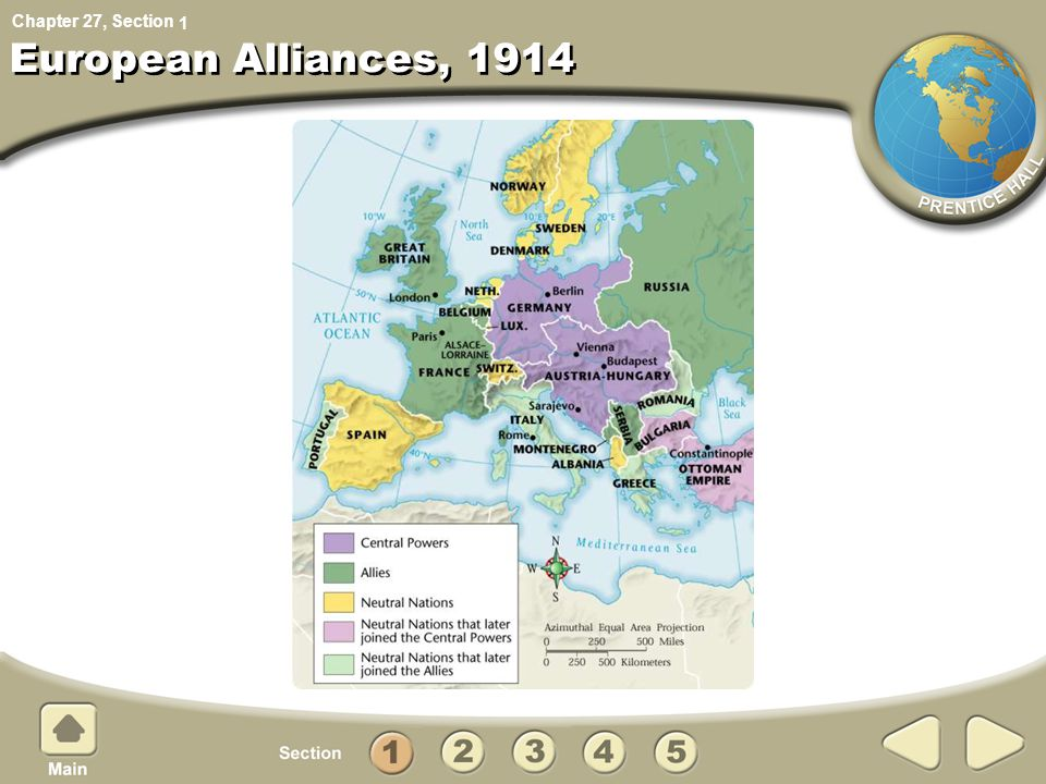 Chapter 27, Section European Alliances, 1914 1