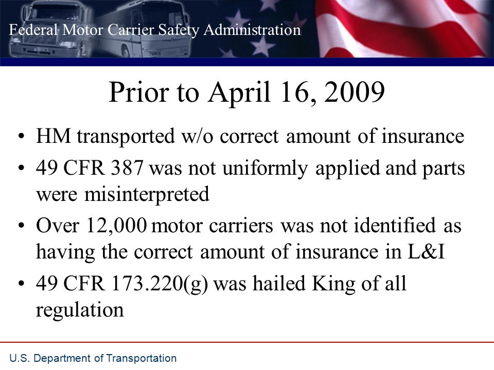 Federal Motor Carrier Safety Administration U.S.