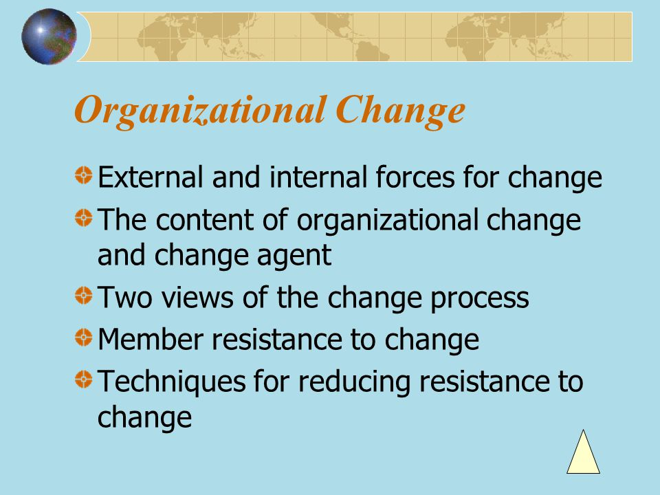 Promoting training and development of employees Offering employees high job security Encouraging individuals to become champions of change Human resource variables
