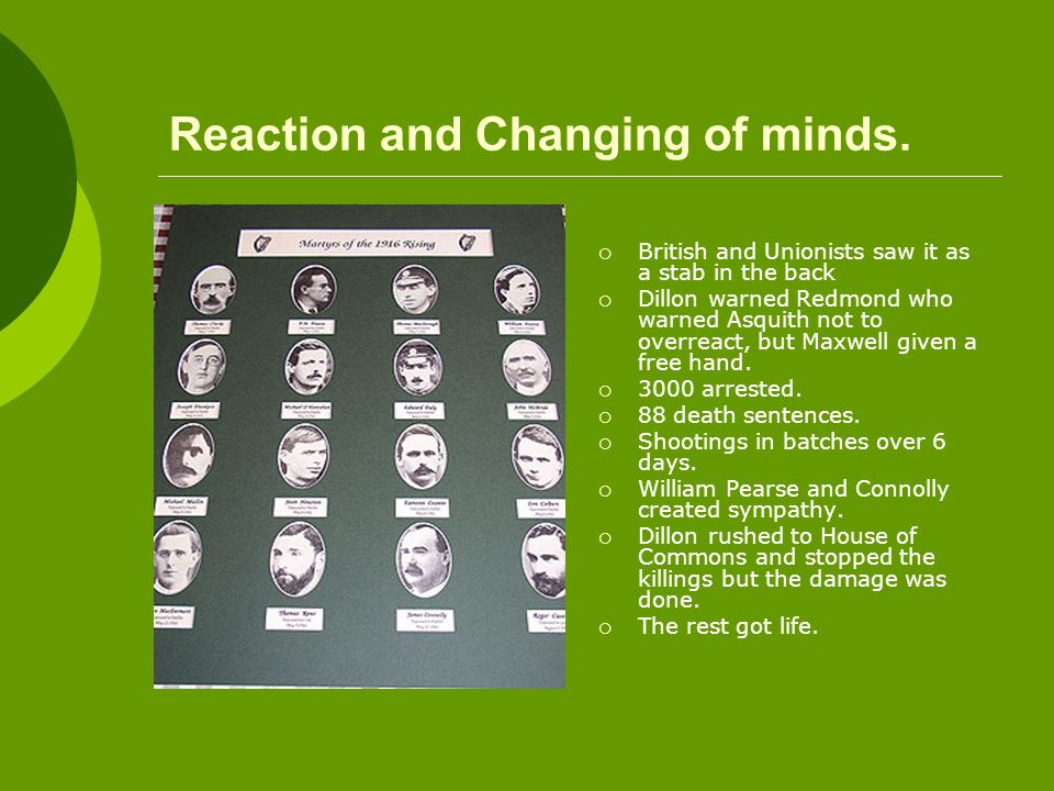 Reaction and Changing of minds.