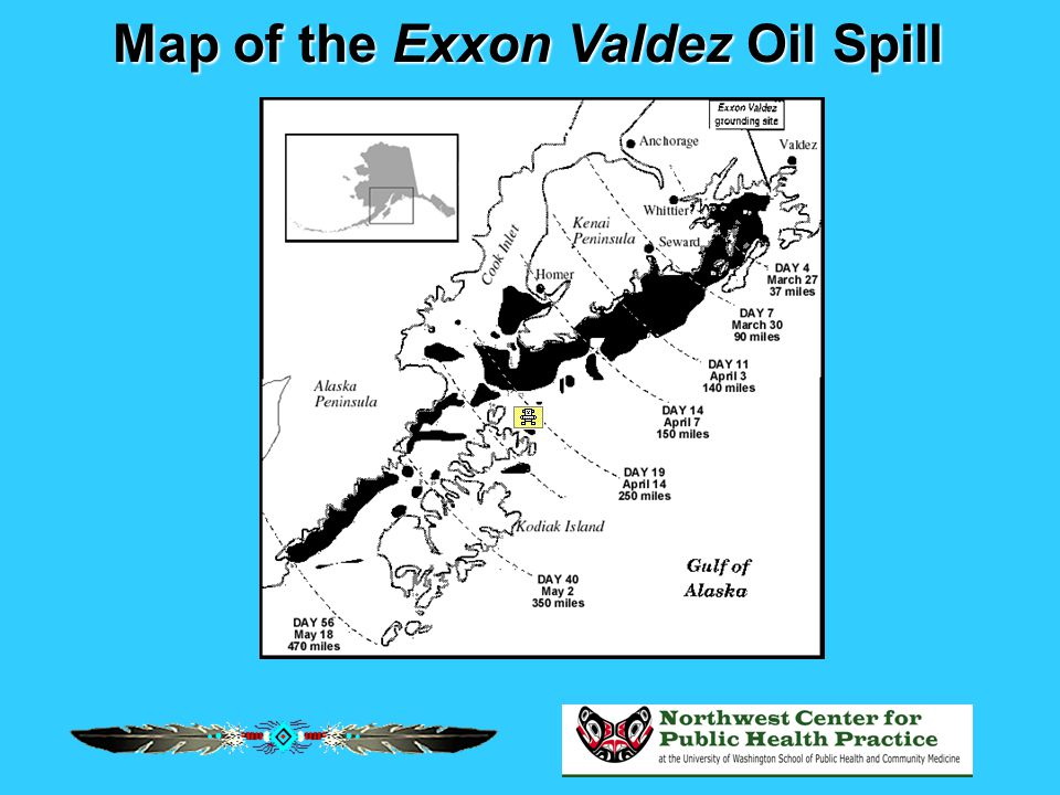 Map of the Exxon Valdez Oil Spill