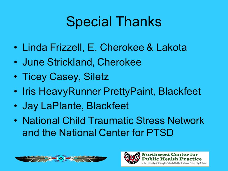 Special Thanks Linda Frizzell, E.