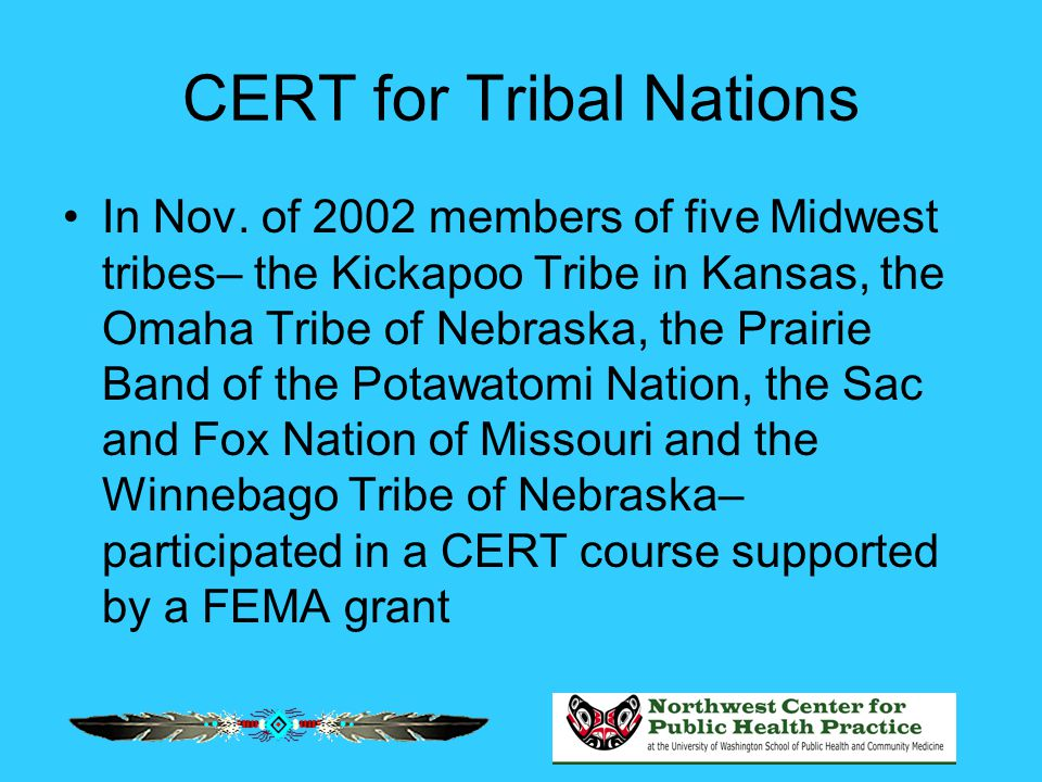 CERT for Tribal Nations In Nov.