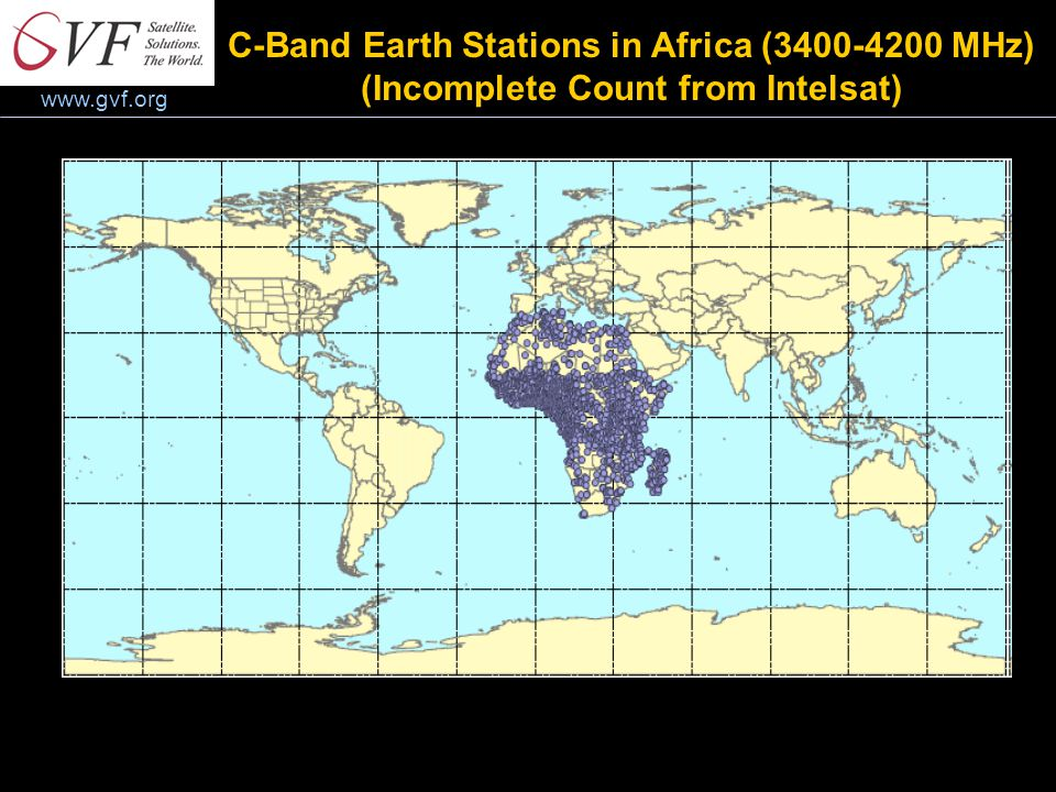 www.gvf.org C-Band Earth Stations in Africa (3400-4200 MHz) (Incomplete Count from Intelsat)