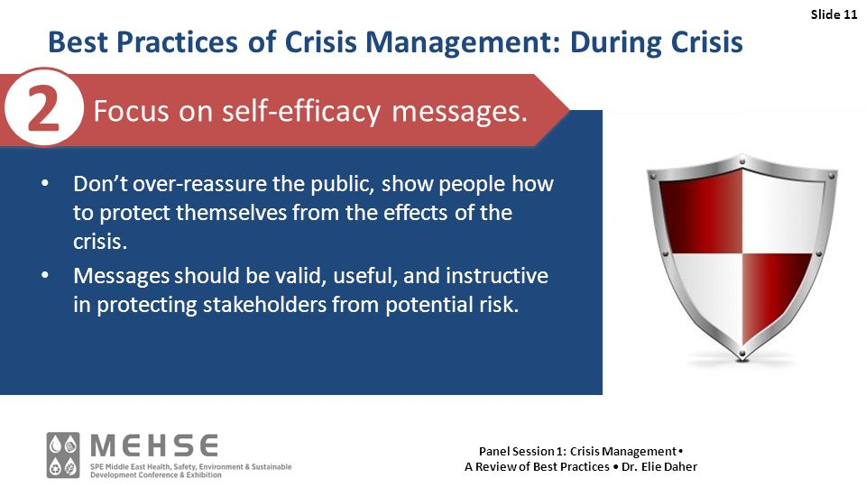 Slide 11 Panel Session 1: Crisis Management A Review of Best Practices Dr.