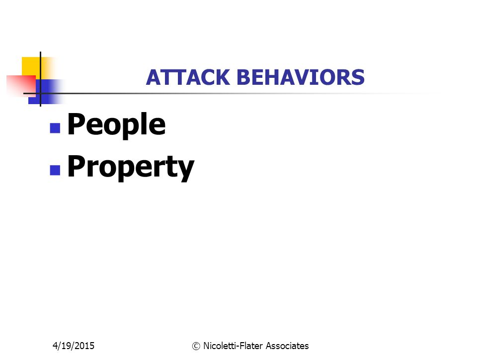 4/19/2015© Nicoletti-Flater Associates ATTACK BEHAVIORS People Property