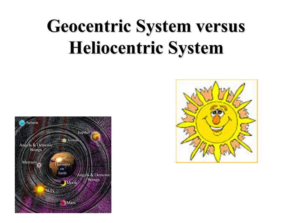 Geocentric System versus Heliocentric System