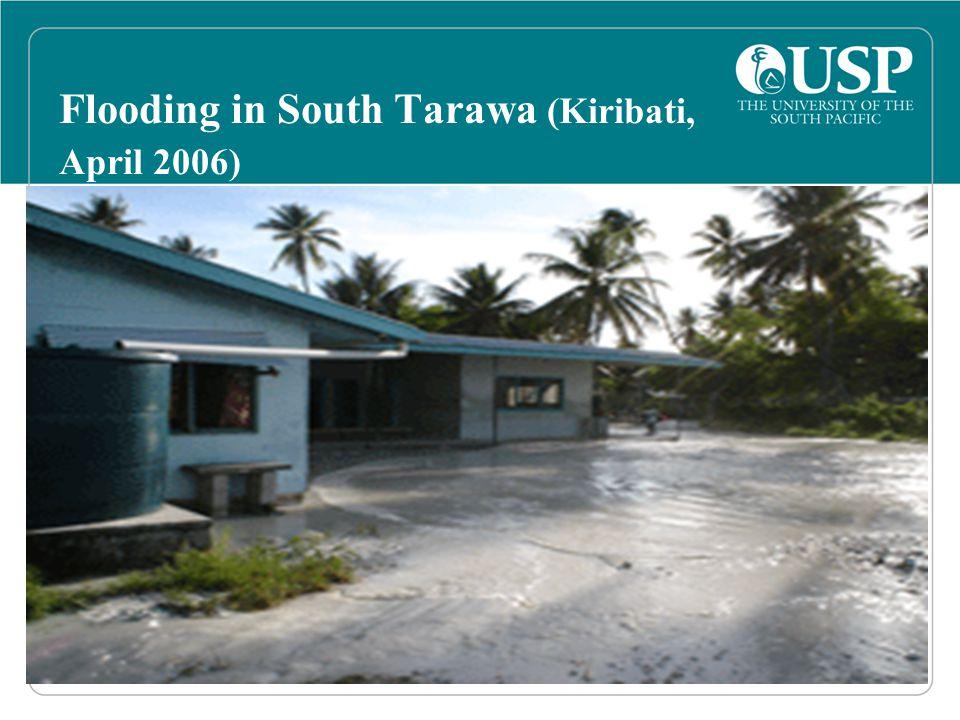 Flooding in South Tarawa (Kiribati, April 2006)