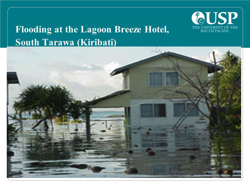 Flooding at the Lagoon Breeze Hotel, South Tarawa (Kiribati)
