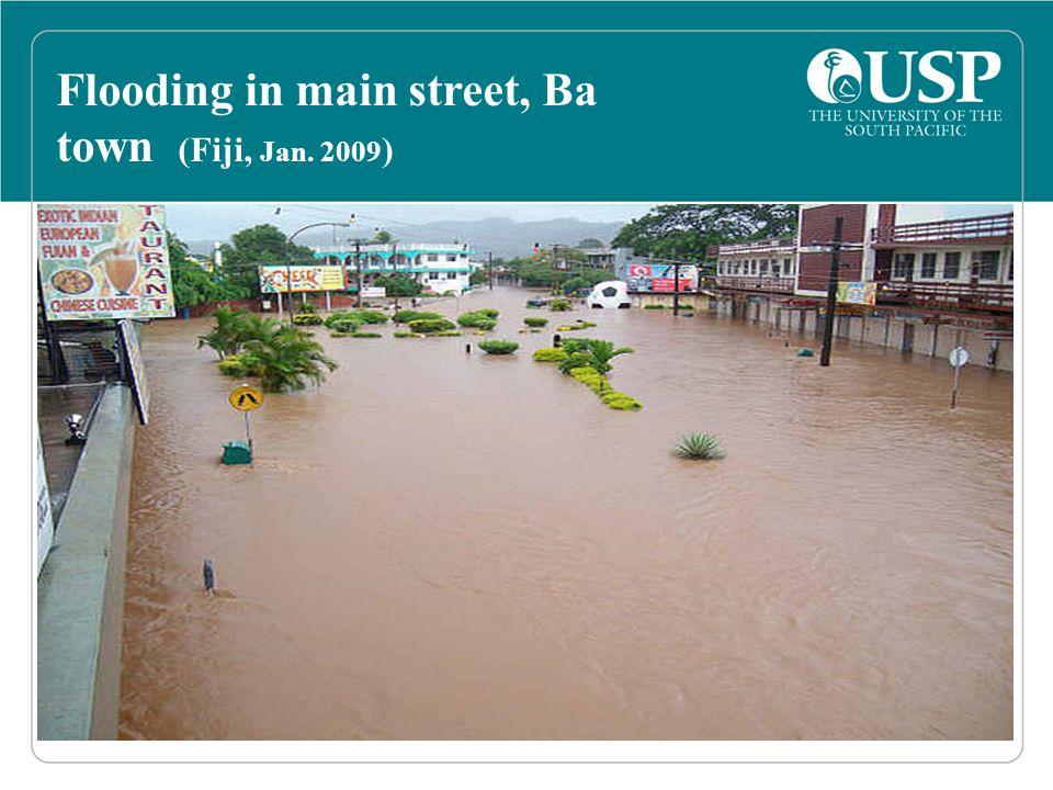 Flooding in main street, Ba town (Fiji, Jan. 2009 )