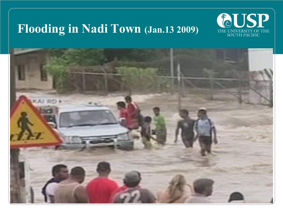 Flooding in Nadi Town (Jan.13 2009)