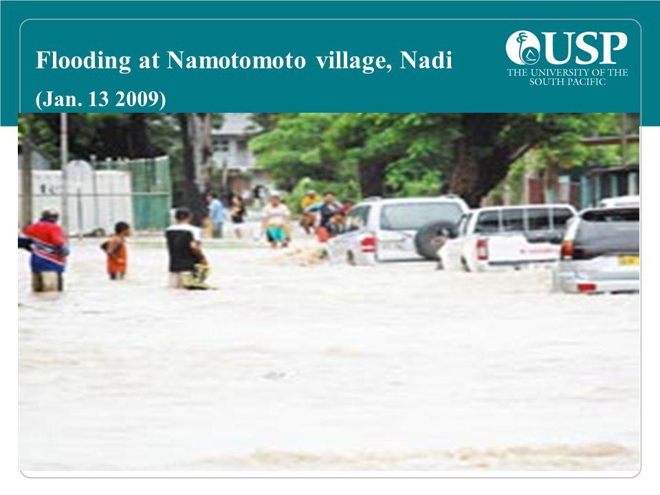 Flooding at Namotomoto village, Nadi (Jan. 13 2009)