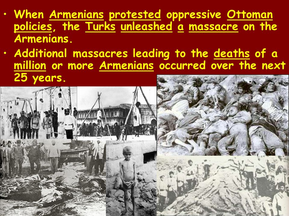 Nationalistic feelings had caused periodic waves of violence against Armenians since the 1890s. New violence was a brutal result of the rivalry betwee