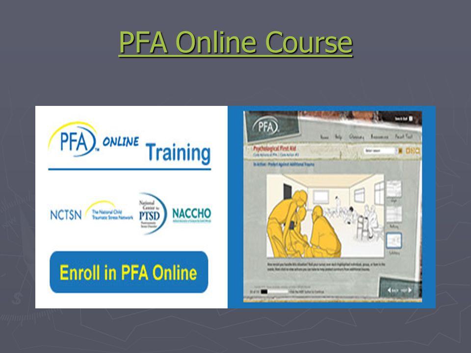 PFA Online Course PFA Online Course