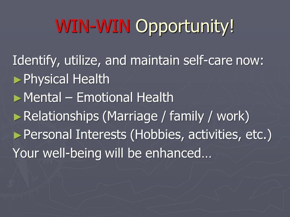WIN-WIN Opportunity.