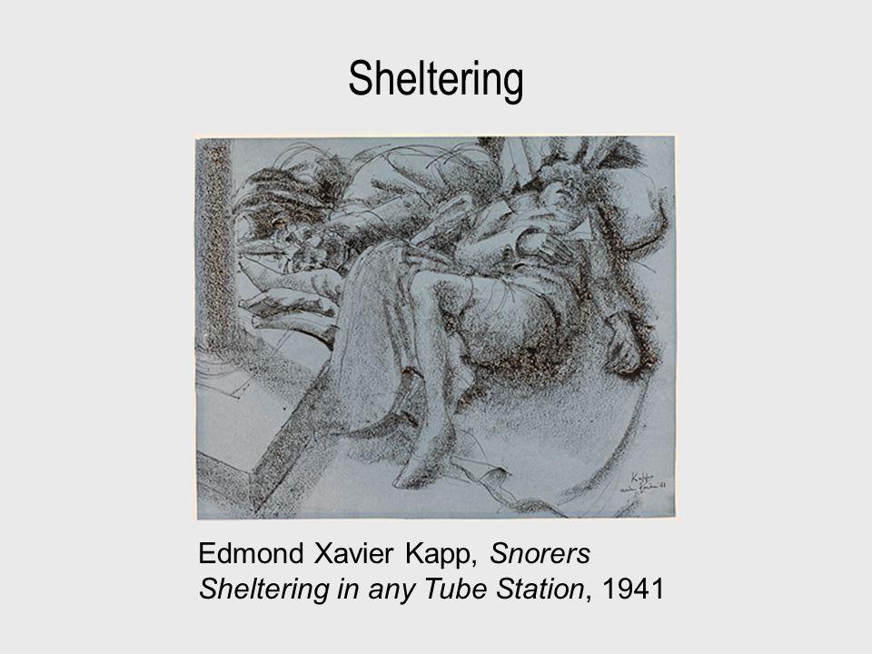 Sheltering Edmond Xavier Kapp, Snorers Sheltering in any Tube Station, 1941