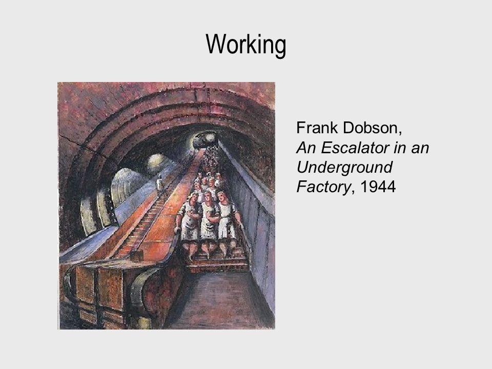 Working Frank Dobson, An Escalator in an Underground Factory, 1944