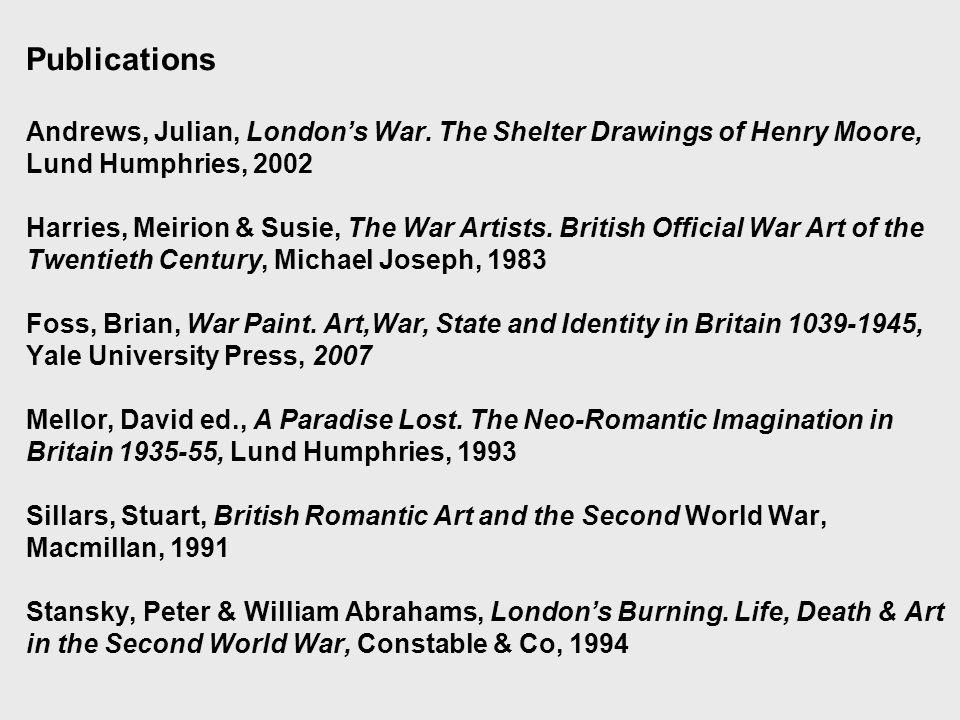 Publications Andrews, Julian, London's War.