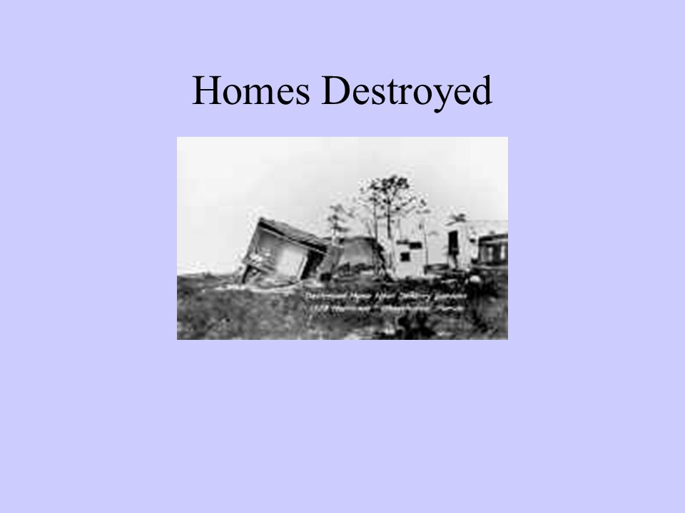 Homes Destroyed
