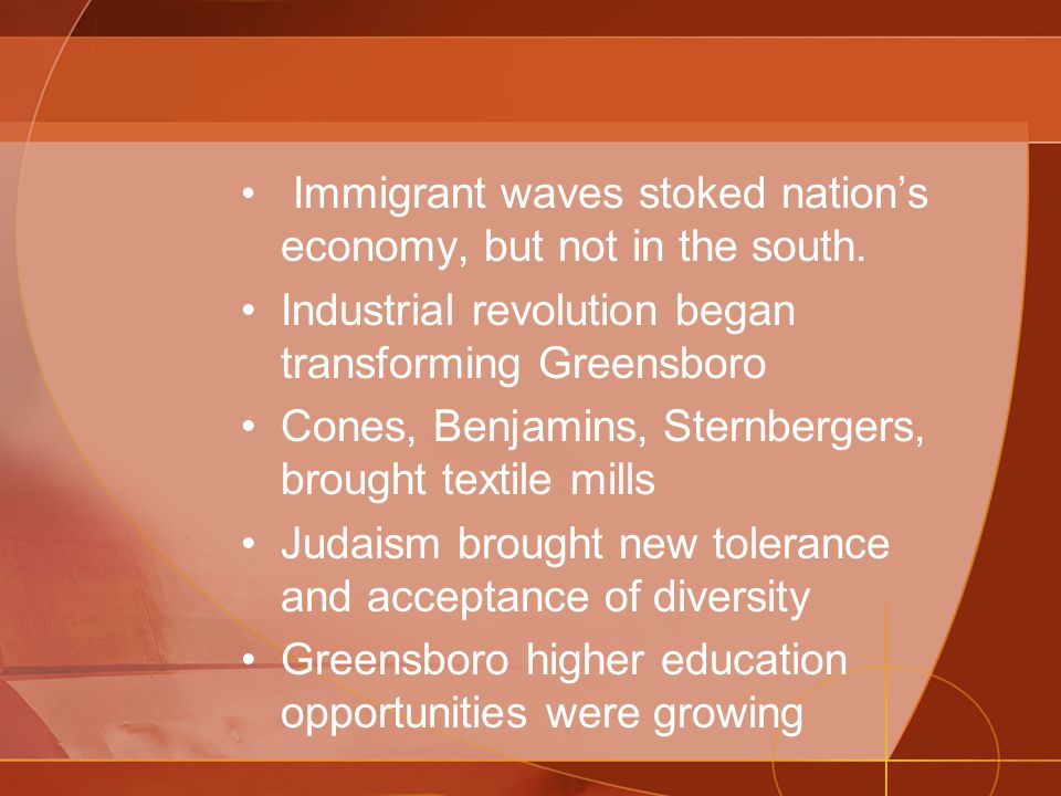 Immigrant waves stoked nation's economy, but not in the south.