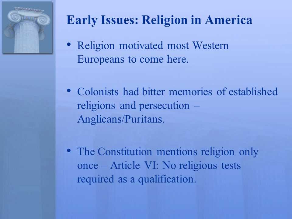 Freedom Of Religion Early Issues Religion In America Religion - Religion in america