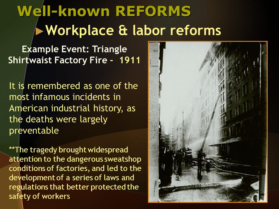 Let's hear about some history… Camella Teoli Testifies about the 1912 Lawrence Textile Strike ► Background 30,000 largely immigrant workers walked out of the Lawrence, Massachusetts, textile mills in January 1912 The strike began because of unsafe working conditions in the mills Also Massachusetts had passed a law requiring a shorter work week  textile mill owners responded by reducing workers wages