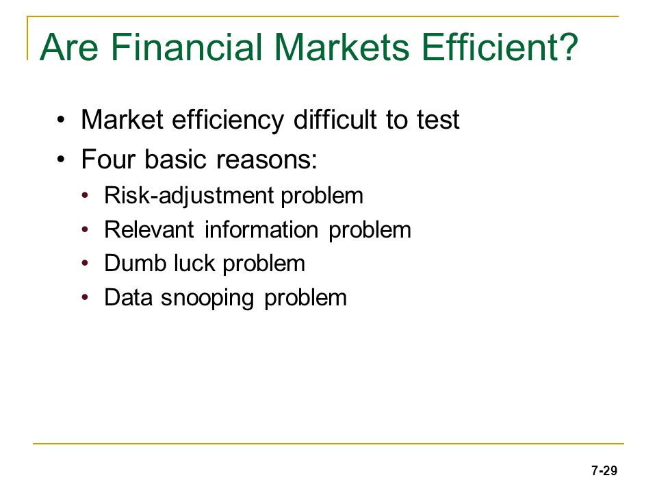 7-29 Are Financial Markets Efficient.