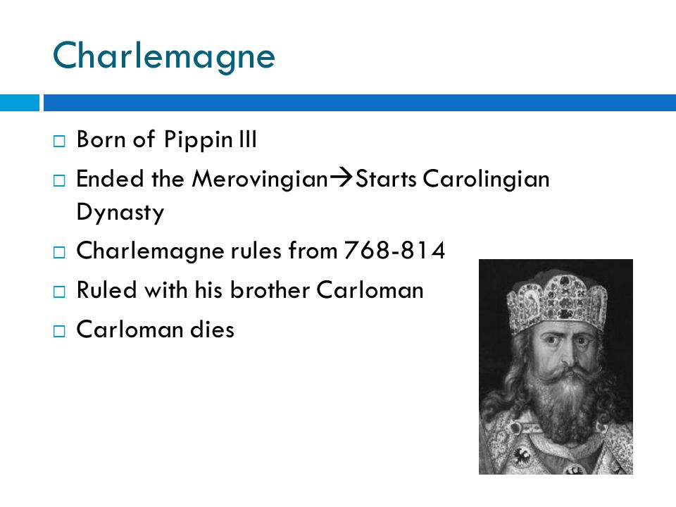 Charlemagne (continued)  Determined to strengthen realm and bring order  30 year plan  Expanded through conquest  Promoted education  Christian