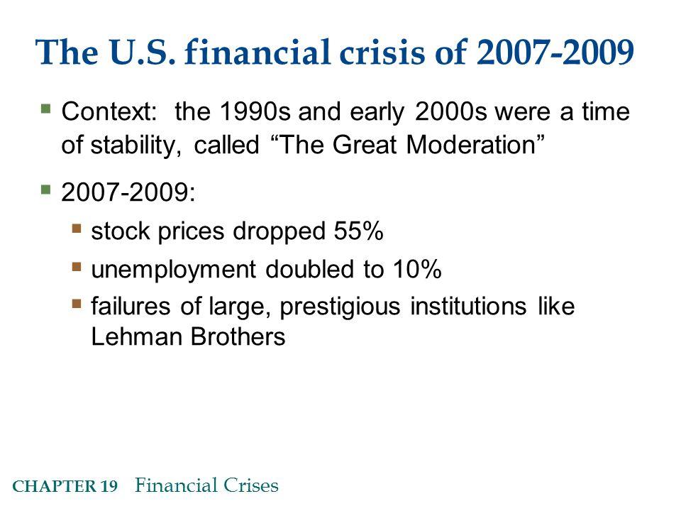 CHAPTER 19 Financial Crises The U.S.