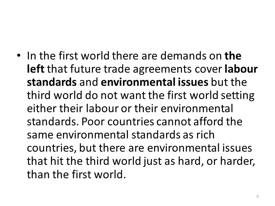 The IMF should continue its focus on the third world financial crisis.