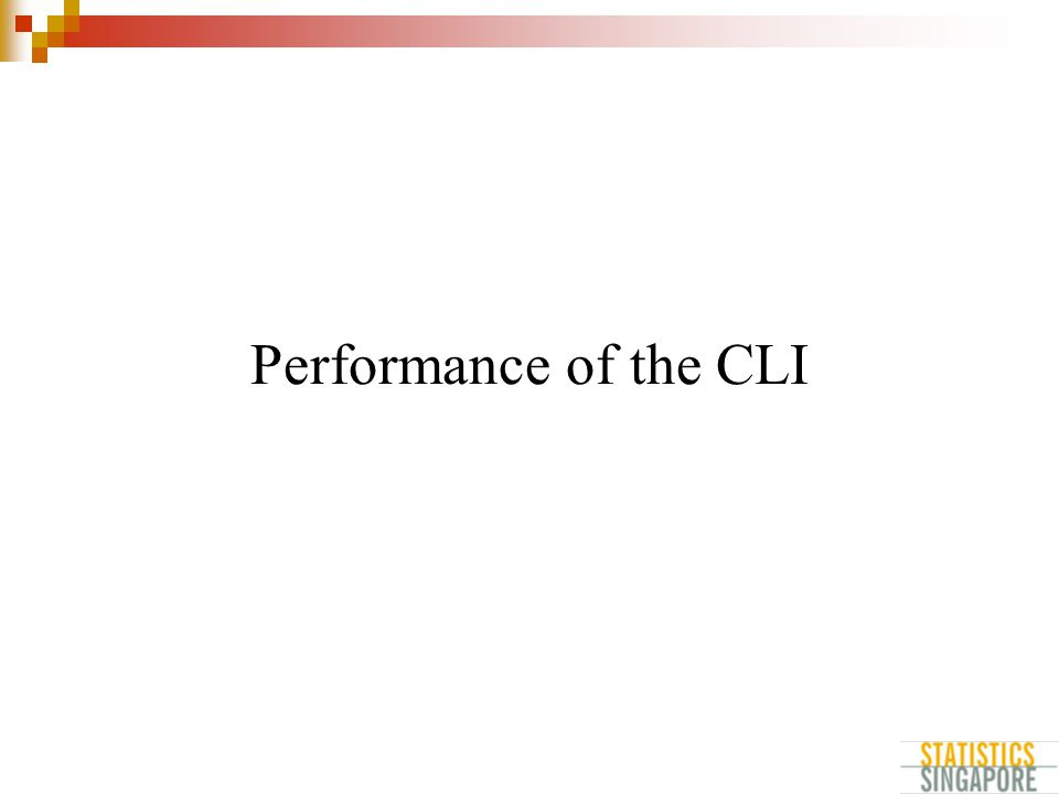 Performance of the CLI