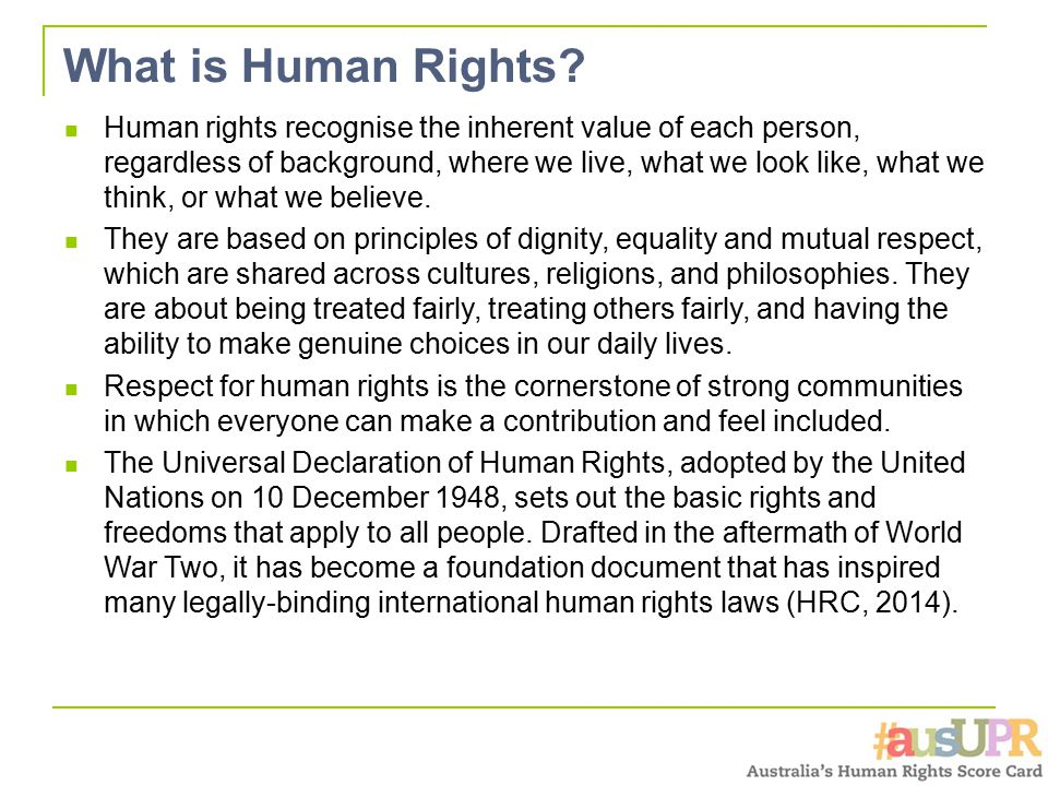 What is Human Rights.