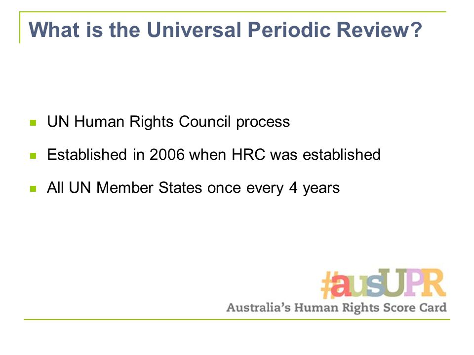 What is the Universal Periodic Review.