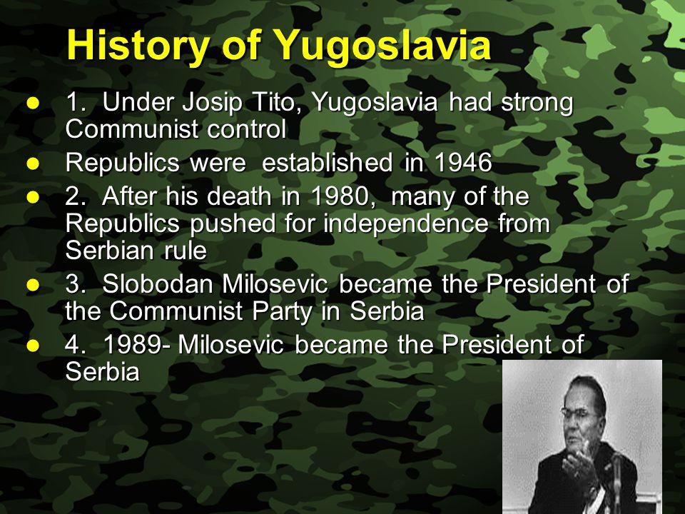 Slide 28 Summary History of Yugoslavia History of Yugoslavia Croatia and Slovenia Croatia and Slovenia Bosnia-Herzegovina Bosnia-Herzegovina Kosovo Kosovo Operation Allied Force Operation Allied Force War Crimes Tribunal War Crimes Tribunal