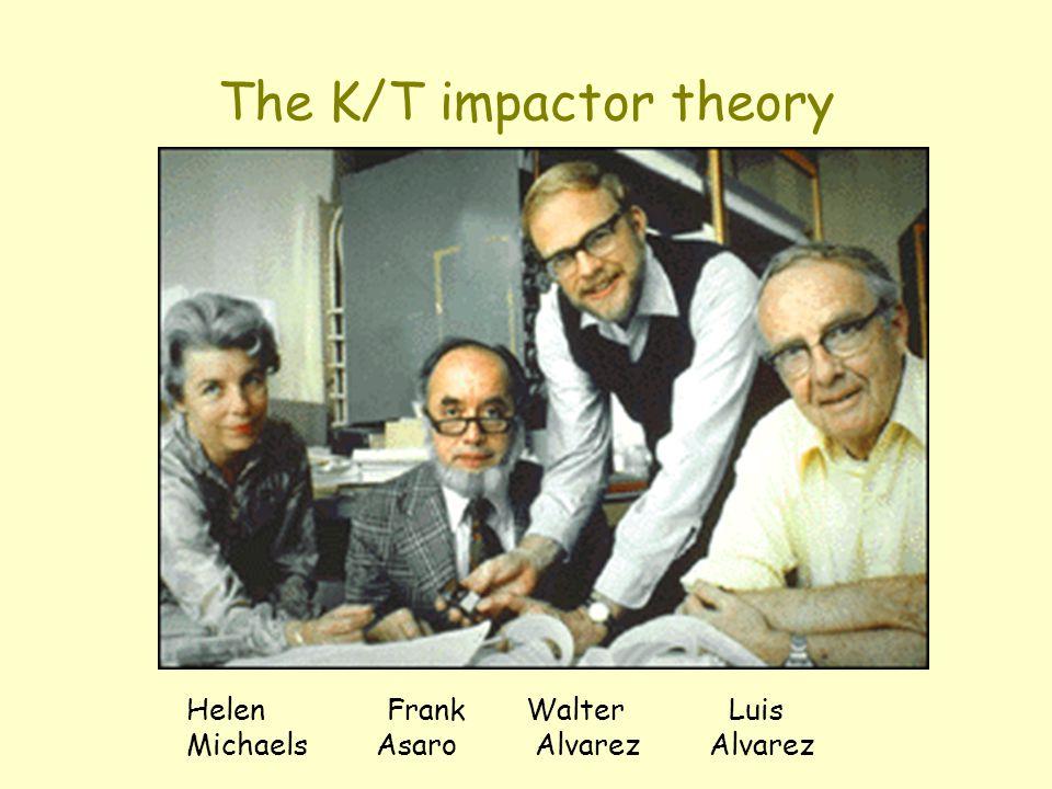 The K/T impactor theory Helen Frank Walter Luis Michaels Asaro Alvarez Alvarez