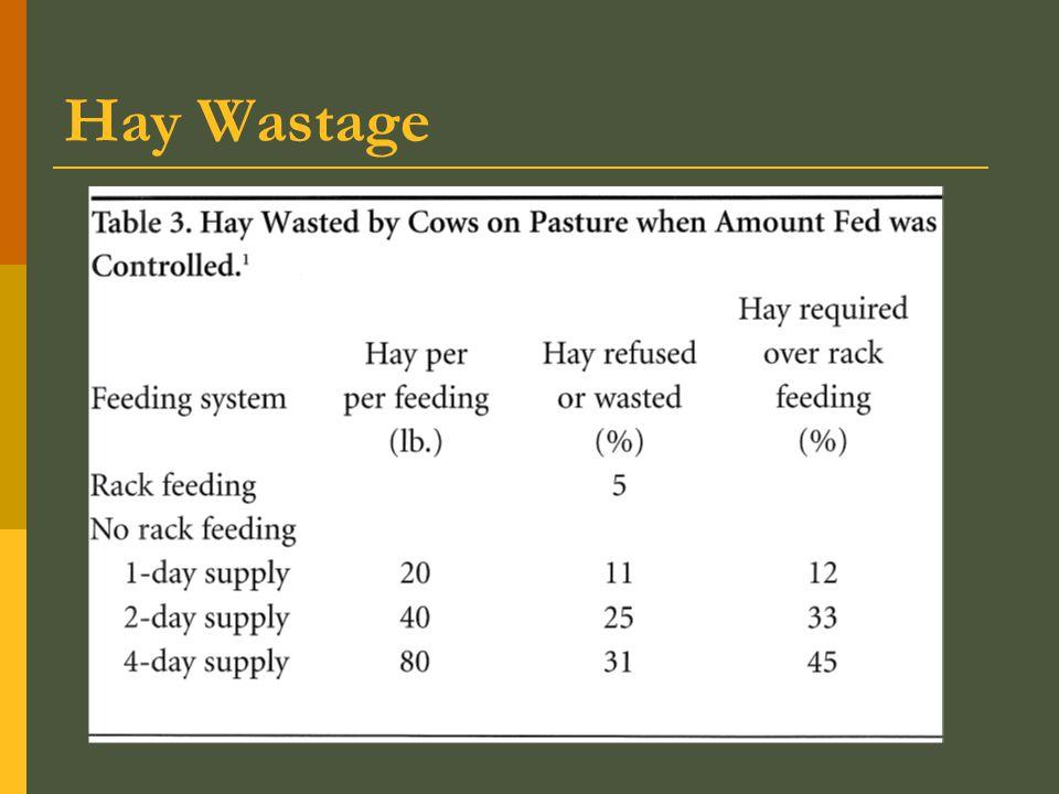 Hay Wastage