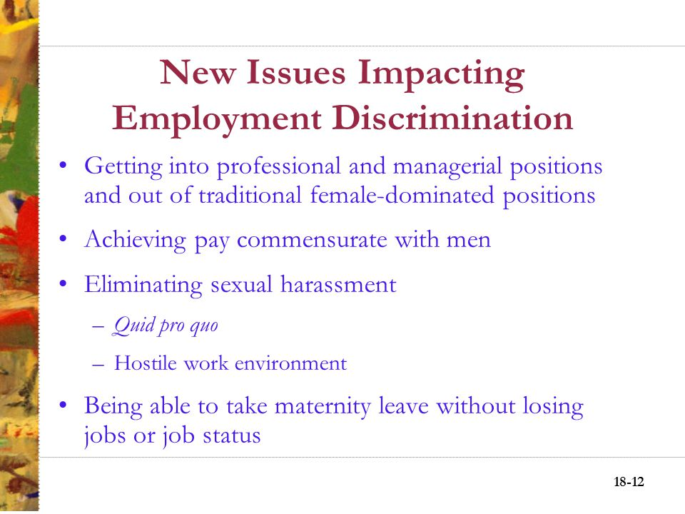 18-11 New Issues Impacting Employment Discrimination Hispanics Asians