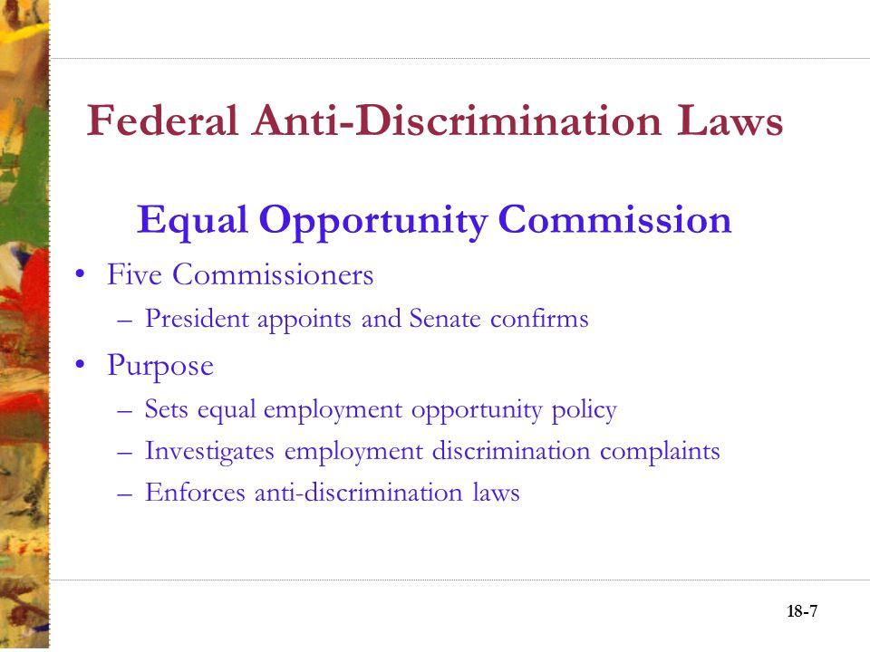 18-17 Affirmative Action Postures Passive nondiscrimination.