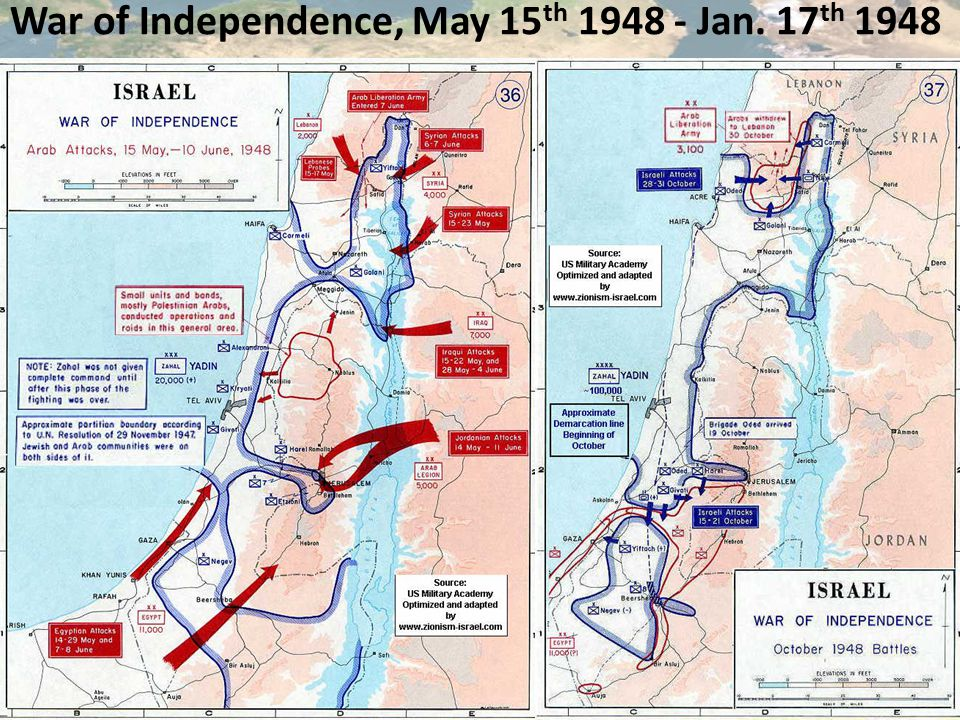 War of Independence, May 15 th 1948 - Jan. 17 th 1948