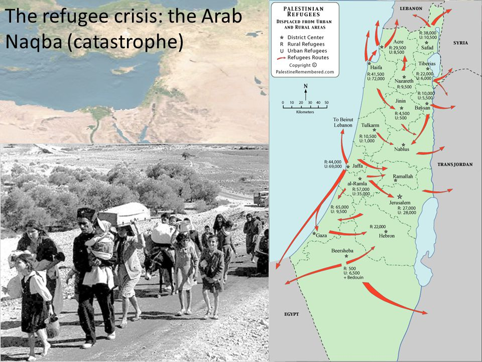 The refugee crisis: the Arab Naqba (catastrophe)